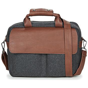 Bags Men Computer bags André LINO Grey / Brown
