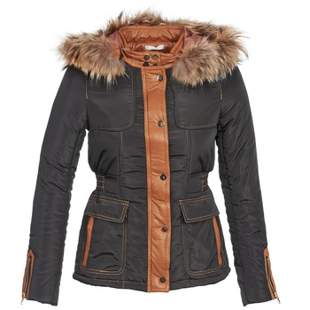 material Women Duffel coats Betty London BAMBOU Black