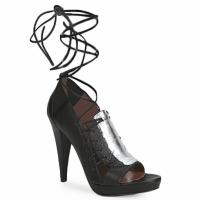 Shoes Women Sandals Sigerson Morrison STRUZZO Black / Silver