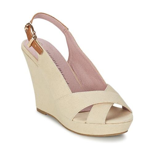 Shoes Women Sandals Moony Mood AKOLM Beige