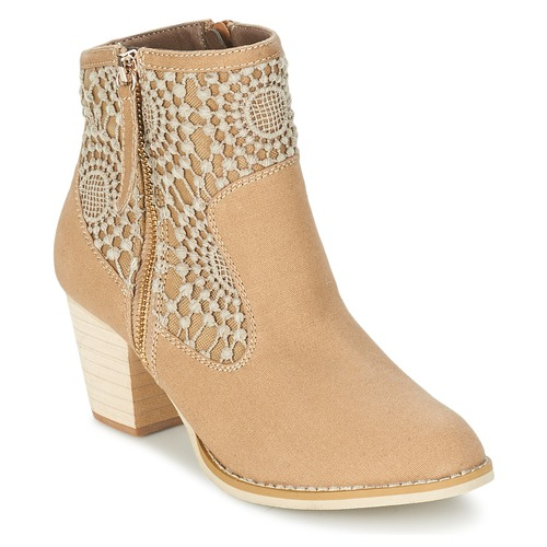 Shoes Women Ankle boots Moony Mood DIROVAL Taupe