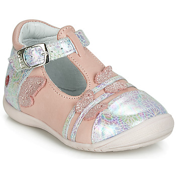 Shoes Girl Ballerinas GBB MERTONE Pink / Silver