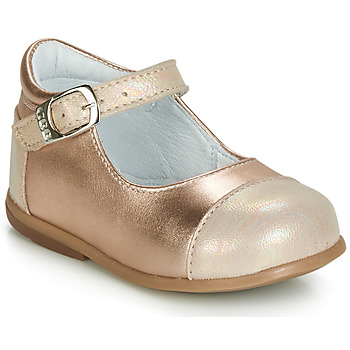 Shoes Girl Ballerinas GBB BELISTO Pink / Gold