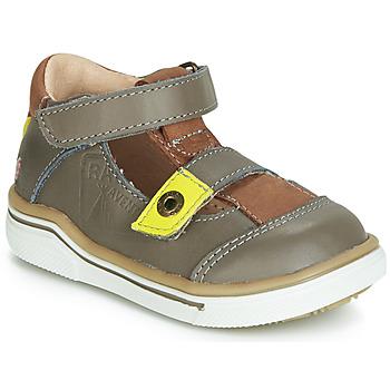 Shoes Boy Sandals GBB PORRO Grey / Brown