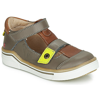 Shoes Boy Sandals GBB PORRO Grey / Brown