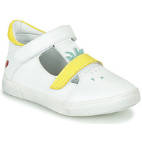 Shoes Girl Ballerinas GBB ARAMA Vte / White-yellow / Dpf