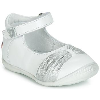 Shoes Girl Ballerinas GBB MALLA White / Silver
