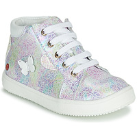 Shoes Girl High top trainers GBB MEFITA Silver / Pink