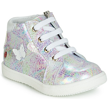 Shoes Girl High top trainers GBB MEFITA White / Pink