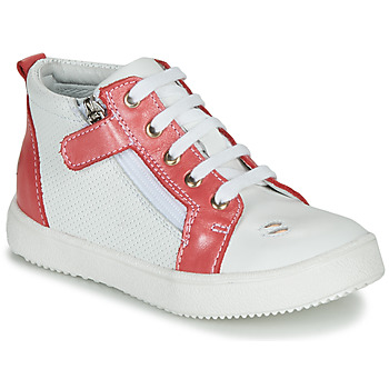 Shoes Girl High top trainers GBB MIMOSA Vte / Coral white / Dpf