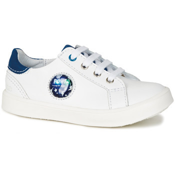 Shoes Boy Low top trainers GBB URSUL Vte / White-blue / Led / Dpf / 2706