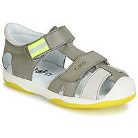 Shoes Boy Sandals GBB BERTO Grey / Yellow