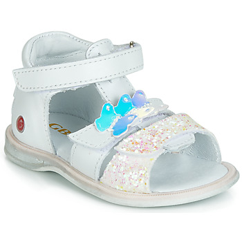Shoes Girl Sandals GBB MESTI White / Silver