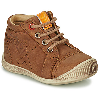 Shoes Boy High top trainers GBB TARAVI Brown
