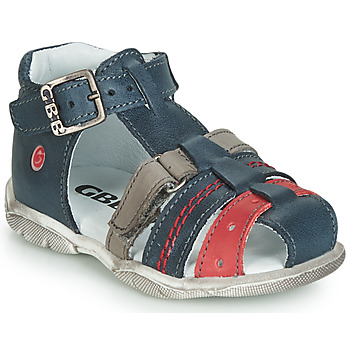 Shoes Boy Sandals GBB ARIGO Vte / Blue-grey-red / Dpf / Filou
