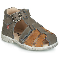 Shoes Boy Sandals GBB PRIGENT Gray / Dpf / Filou
