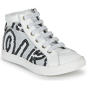 Shoes Girl High top trainers GBB MARTA White / Silver / Dpf / Dolby