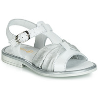 Shoes Girl Sandals GBB MESSENA White / Silver
