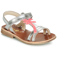 Shoes Girl Sandals GBB SAPELA Vte / Silver / Dpf / Coca
