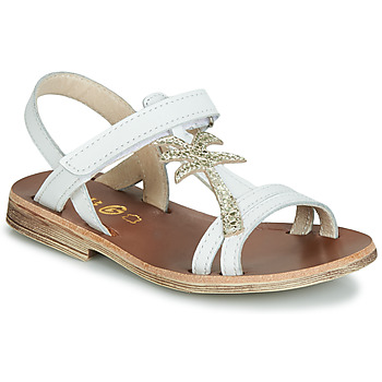 Shoes Girl Sandals GBB SAPELA Vte / White-gold / Dpf / Coca