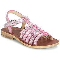 Shoes Girl Sandals GBB BANGKOK Vte / Fuschia / Silver / Dpf / Coca