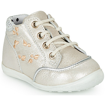 Shoes Girl High top trainers Catimini BALI Vte / Beige-silver / Dpf / Gluck