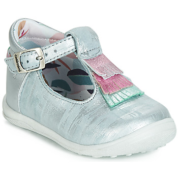 Shoes Girl Ballerinas Catimini BIMA Vte / Blue / Silver / Dpf / Gluck