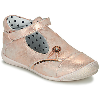 Shoes Girl Ballerinas Catimini SANTA Vte / Pink / Gold / Dpf / Kezia