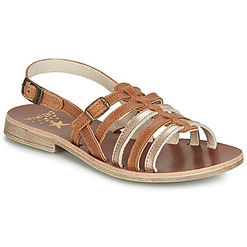 Shoes Girl Sandals Catimini NOBO Cognac / Gold