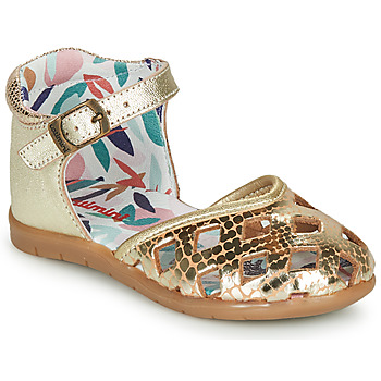 Shoes Girl Ballerinas Catimini NAYA Vte / Gold / Dpf / Nemo