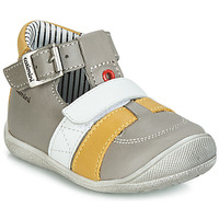 Shoes Boy High top trainers Catimini TIMOR Vte / Grey yellow / Dpf / Kimbo