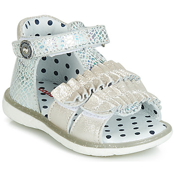 Shoes Girl High top trainers Catimini BIRA Silver