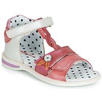 Shoes Girl Sandals Catimini GOROKA Sable / Red
