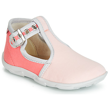 Shoes Girl Slippers GBB GARALA Coral pink / Dtx / Amis