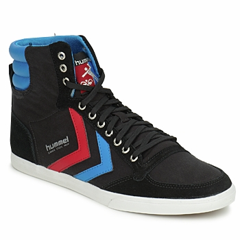 Shoes Men High top trainers Hummel TEN STAR HIGH CANVAS Black / Blue / Red
