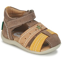 Shoes Boy Sandals Kickers BIGBAZAR Brown / Beige / Yellow