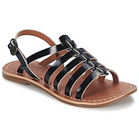 Shoes Girl Sandals Kickers DIXMILLION Black / VARNISH