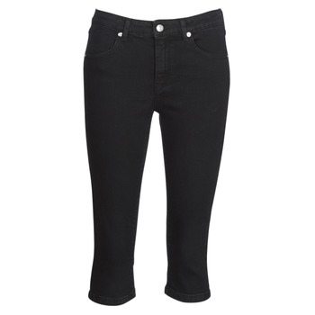 material Women cropped trousers Yurban JATARA Black