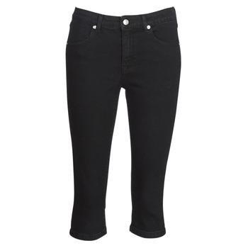 material Women cropped trousers Yurban JATARA Black
