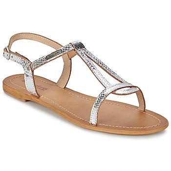 Shoes Women Sandals Les Tropéziennes par M Belarbi HAMAT Silver / Serpent