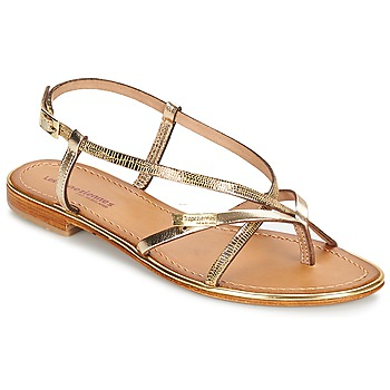 Shoes Women Sandals Les Tropéziennes par M Belarbi MONACO GOLD / Serpent