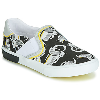 Shoes Boy Low top trainers Catimini CAMAZO White / Black