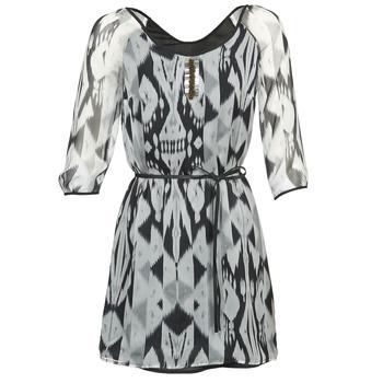 material Women Short Dresses One Step ROSASITE Grey / White