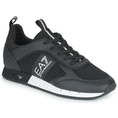 Shoes Low top trainers Emporio Armani EA7 LACES U Black