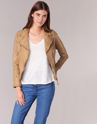 material Women Leather jackets / Imitation le Oakwood CAMERA Cognac
