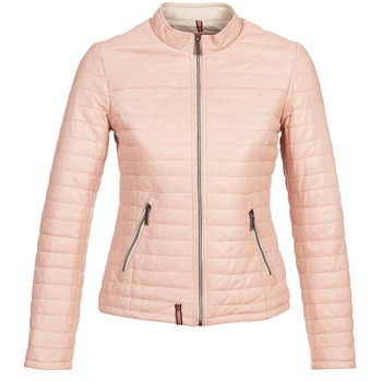 material Women Leather jackets / Imitation le Oakwood 61435 Pink