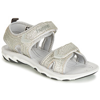 Shoes Children Sports sandals Hummel SANDAL GLITTER JR Silver