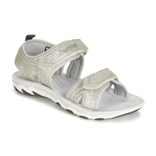 Shoes Children Sandals Hummel SANDAL GLITTER JR Silver
