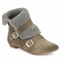 Shoes Women Mid boots Bronx CREPOU Brown / Grey