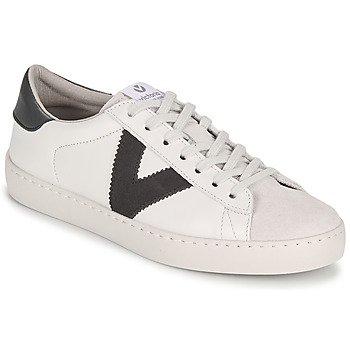 Shoes Women Low top trainers Victoria BERLIN PIEL CONTRASTE White / Grey